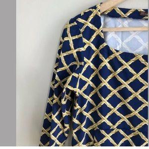 J. McLaughlin Dresses - J. McLaughlin Catalina Cloth Shift Dress Trellis